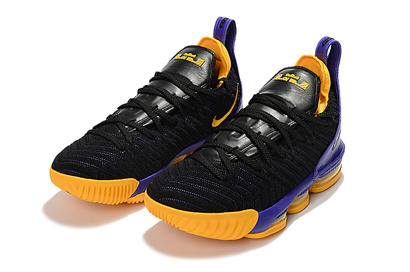 Nike Lebron 16 Full Palm Air Cushion Lakers THeme Shoes