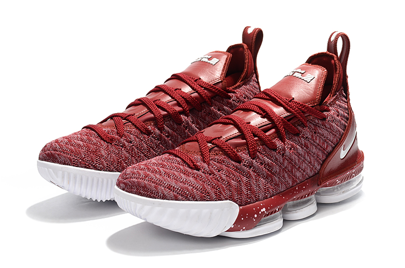 Nike Lebron 16 Full Palm Air Cushion Wine Red Shoes