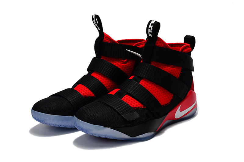 Nike Lebron Soldier 11 Black Red Basketball Shoes For Women