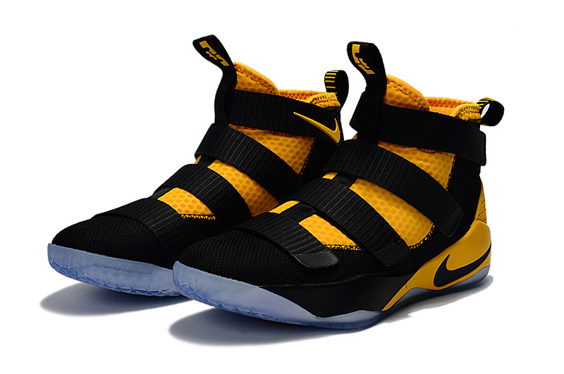 Nike Lebron Soldier 11 Black Yellow Basketball Shoes For Women