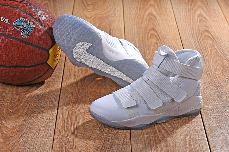 5d4264dd6e252 Nike Lebron Solider 11 All White Shoes  NS1209  -  85.00   Real Nike ...