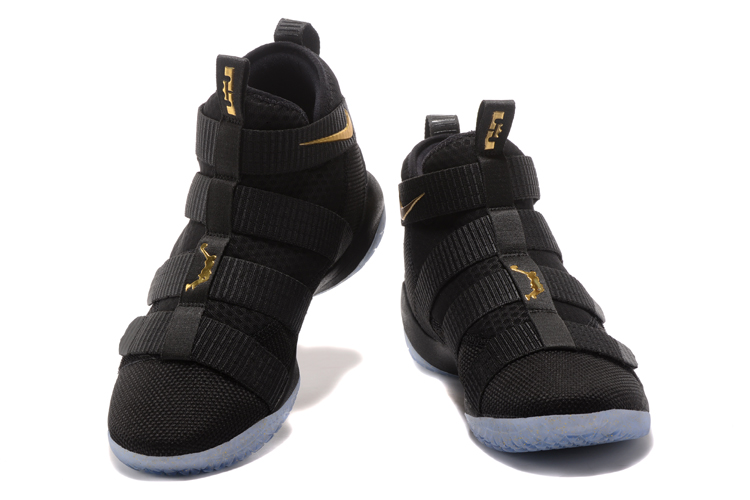 Nike Lebron Solider 11 Black Gloden Basketball Shoes