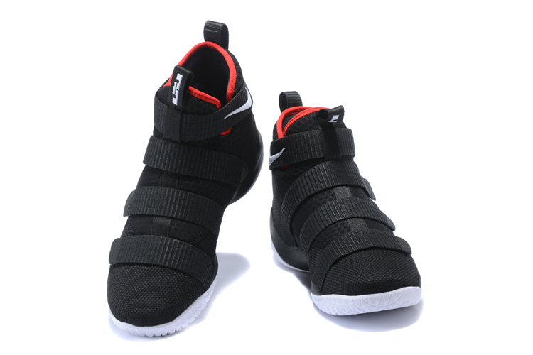 Nike Lebron Solider 11 Black Red Basketball Shoes