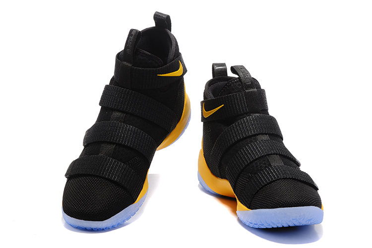 Nike Lebron Solider 11 Black Yellow Basketball Shoes