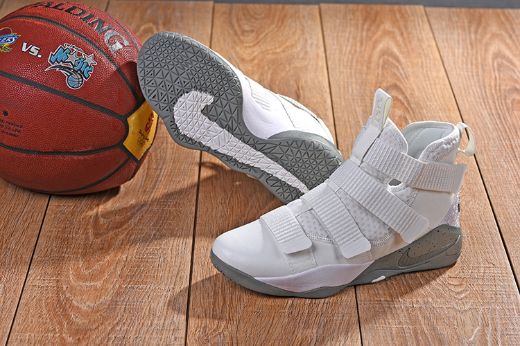 Nike Lebron Solider 11 White Cream Shoes
