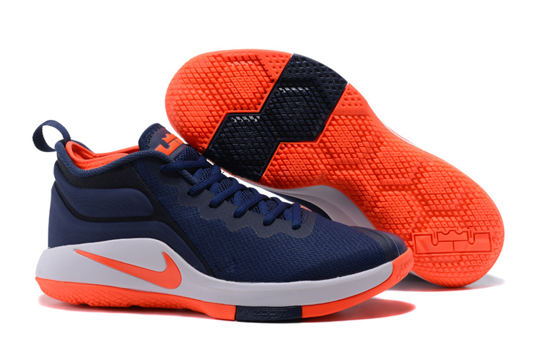 Nike Lebron Wintnes 2 Dark Blue Orange Shoes