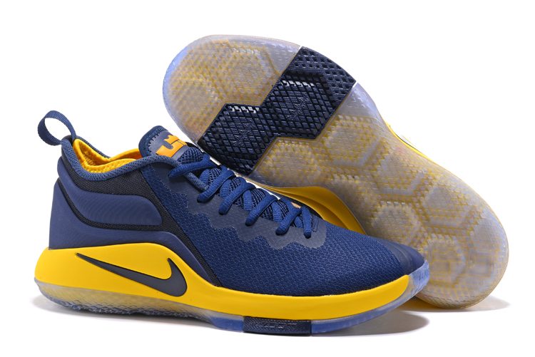 Nike Lebron Wintnes 2 Dark Blue Yellow Shoes