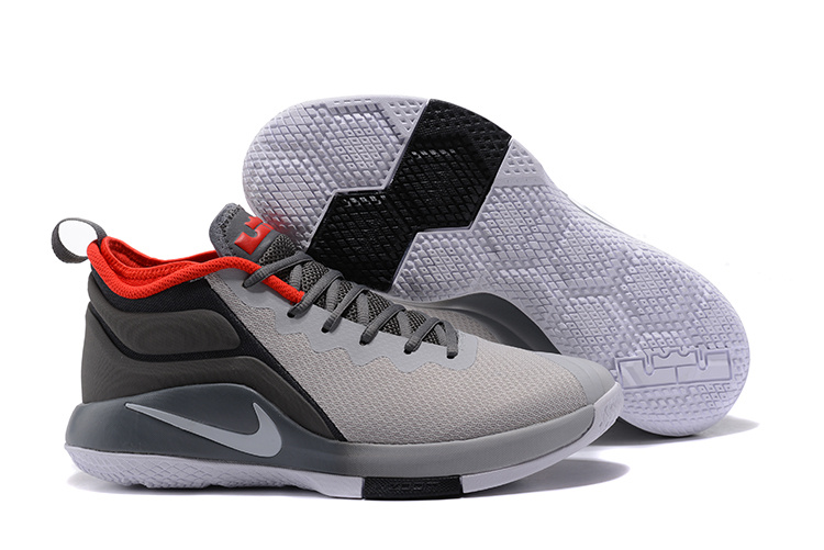 Nike Lebron Wintnes 2 Grey Black Red Shoes