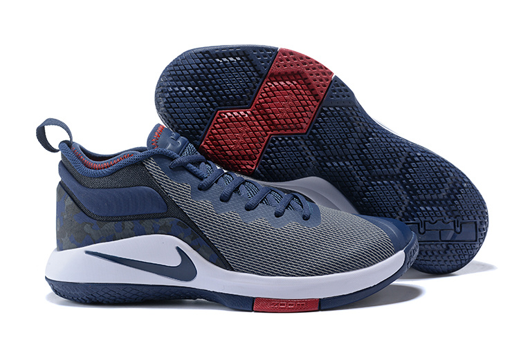 Nike Lebron Wintnes 2 Grey Dark Blue Shoes