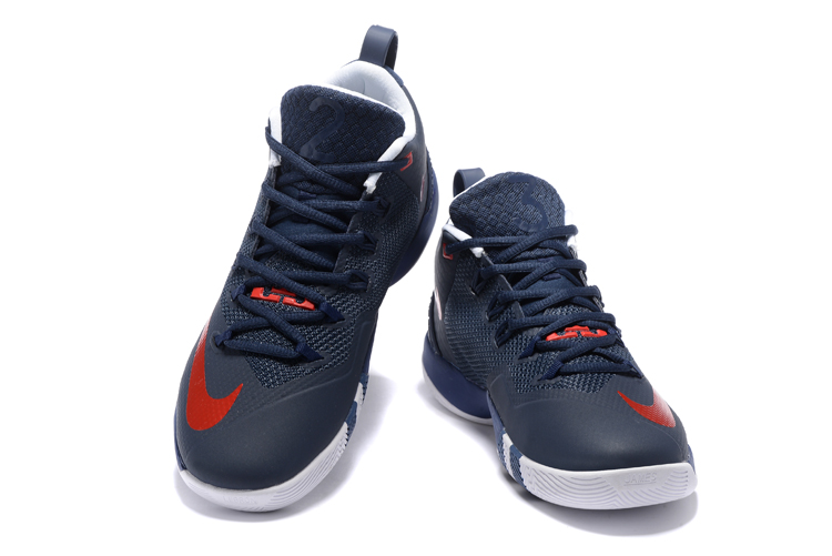 Nike Lebron Wintness 9 Dark Blue Red Basketball Shoes