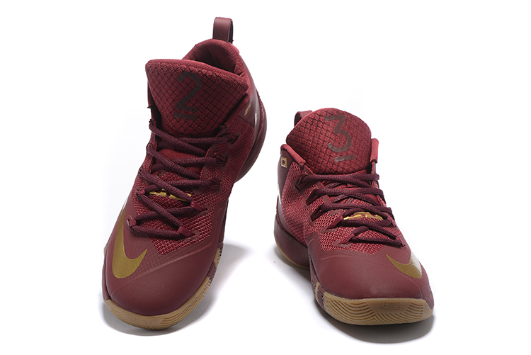Nike Lebron Wintness 9 Wine Red Gloden Basketball Shoes