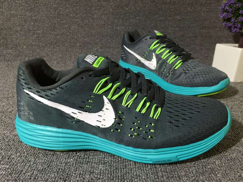 Nike Lunartempo 21 Black Fluorscent Blue Women Shoes
