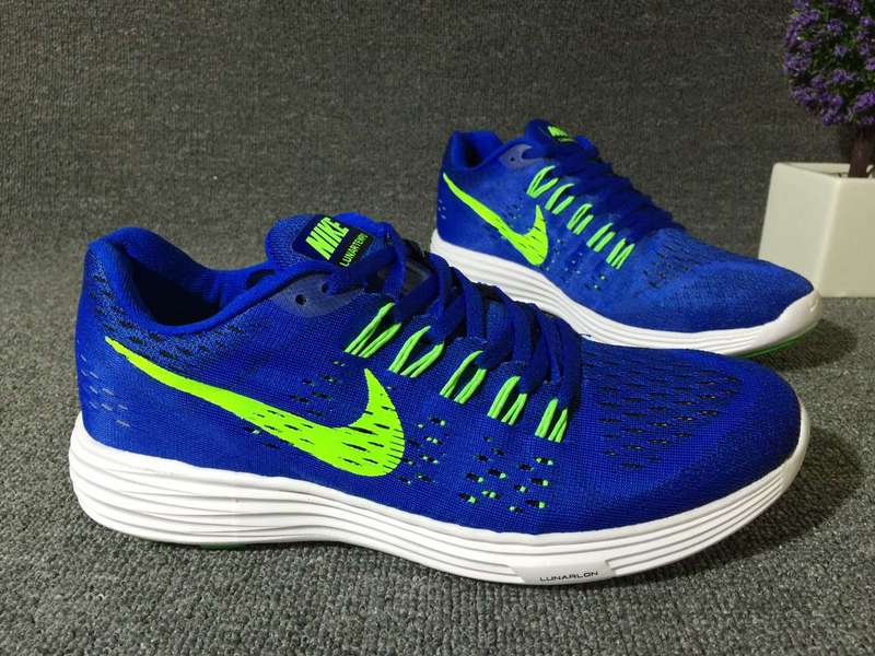 Nike Lunartempo 21 Blue Fluorscent Green White Shoes