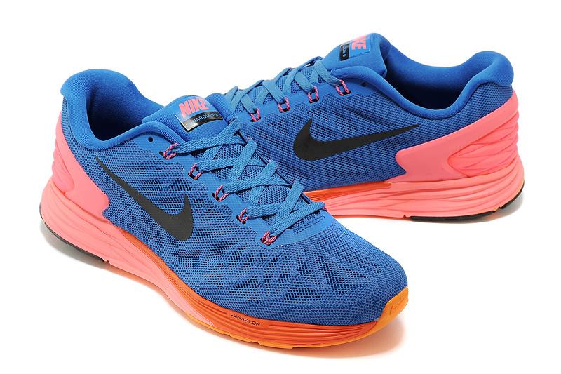 Nike Moofall 6 Blue Orange Sport Shoes