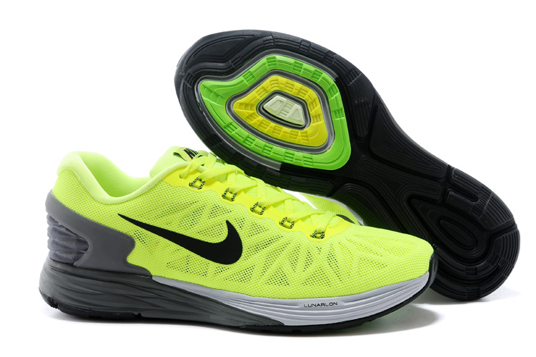 Nike Moofall 6 Fluorscent Green Grey Sport Shoes