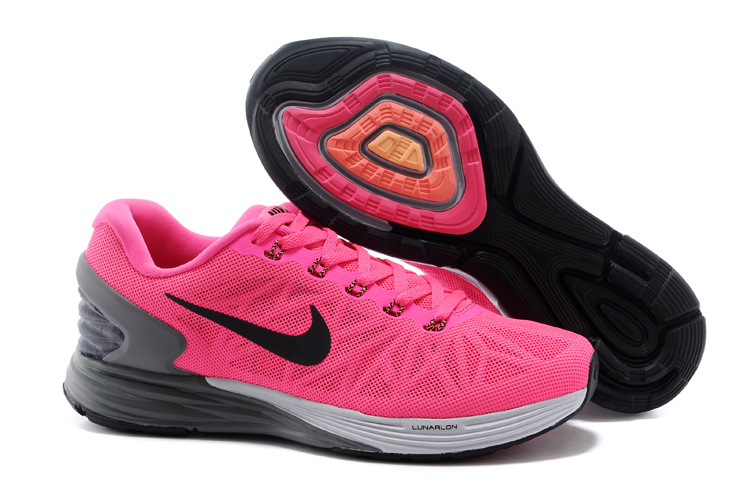 Nike Moofall 6 Pink Grey White Sport Shoes For Women
