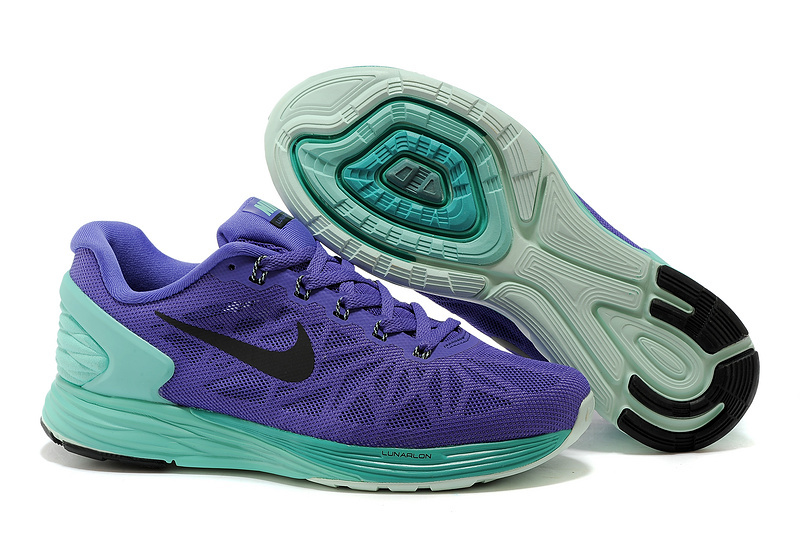 Nike Moofall 6 Purple Green Sport Shoes For Women