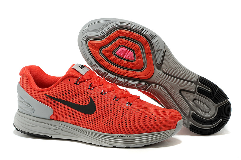 Nike Moofall 6 Red Grey Sport Shoes
