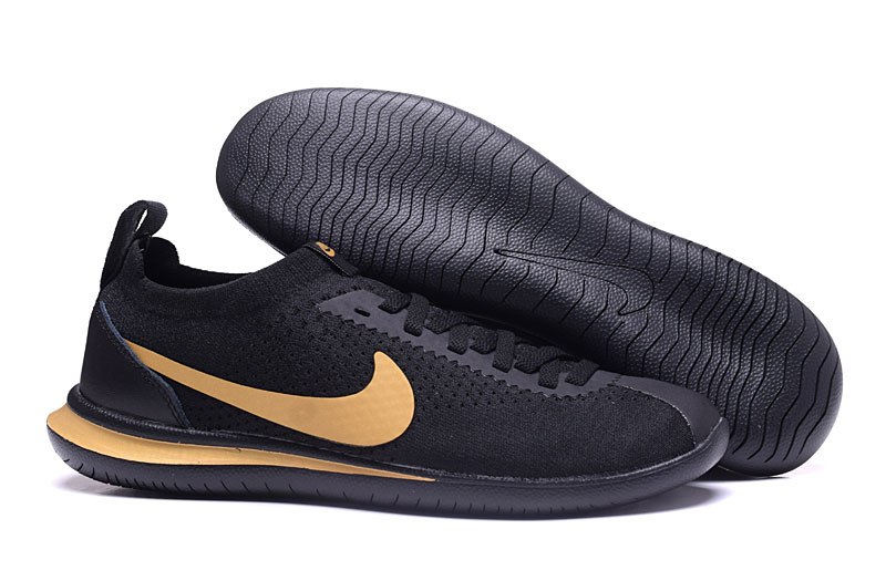 Nike NSW Cortez Flyknit Black Gold Shoes
