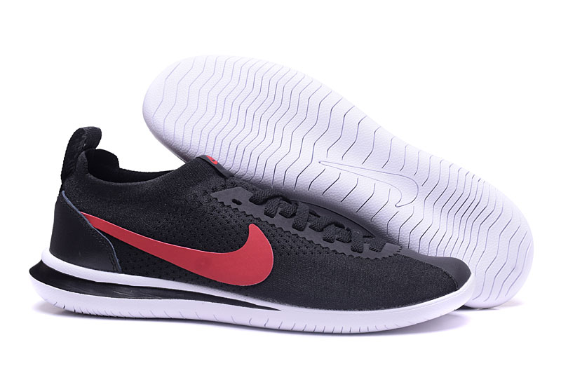 Nike NSW Cortez Flyknit Black Red Shoes