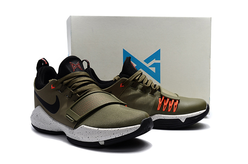 Nike PG 1 Army Orange Black Basketball Shoes For Women