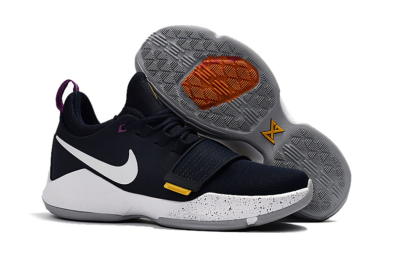 Nike PG 1 Black White Yellow Basketball Shoes For Women
