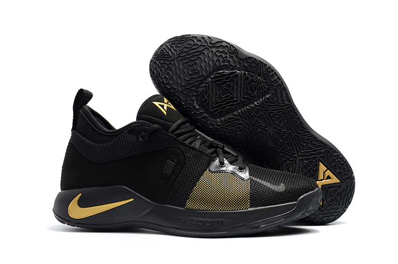 Nike Paul George 2 Black Gloden Shoes