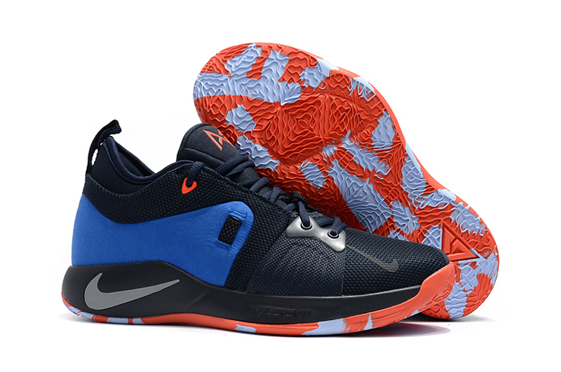 Nike Paul George 2 Blue Orange Shoes