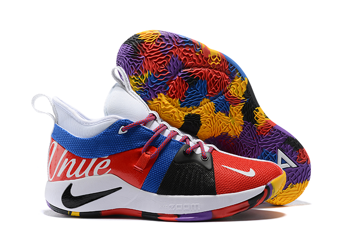 Nike Paul George 2 Fresh Red 76s Shoes