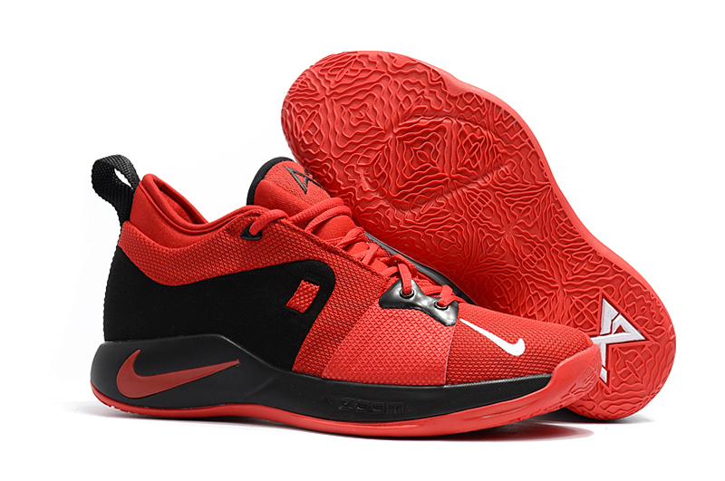Nike Paul George 2 Red Black Shoes