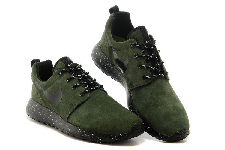 Nike Roshe Run Army Green Running Shoes