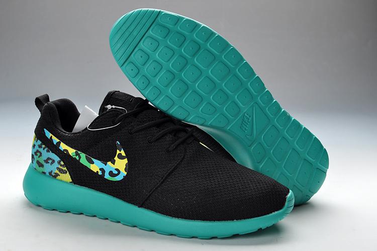 7ec2e8ae6df1 New Nike Roshe Run Black Green For Women