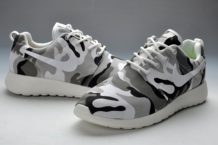 check out 01581 1ab76 New Nike Roshe Run Camouflage Men Sport Shoes