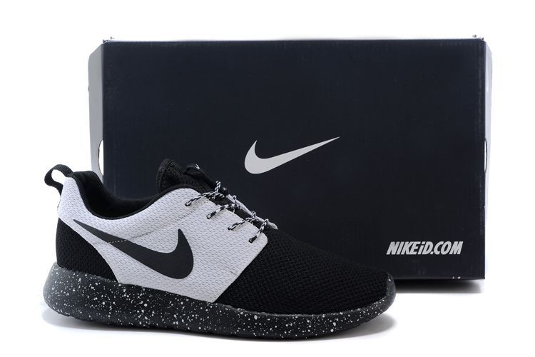 Nike Roshe Run Oreo Black Grey Shoes