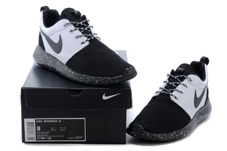 b377d232cf5 Nike Roshe Run Oreo Black Grey Shoes