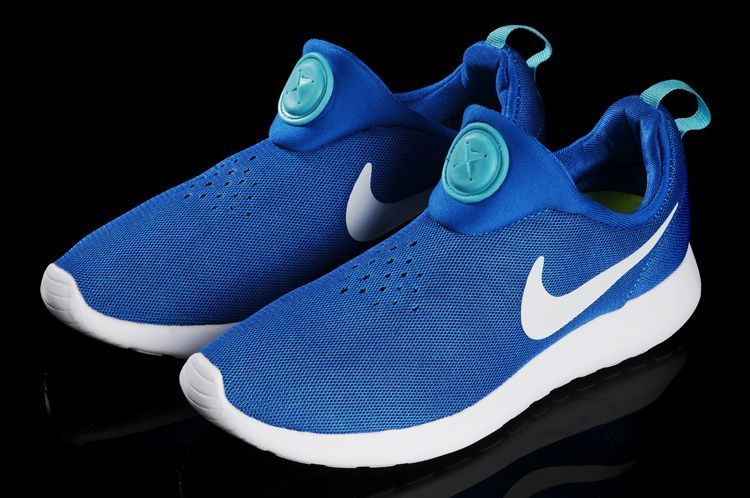 Nike Rosherun Slip On Baby Blue White Swoosh Shoes