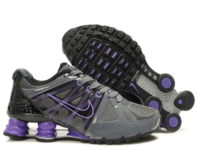 Nike Shox Agent+ Shoes Grey Purple For Women