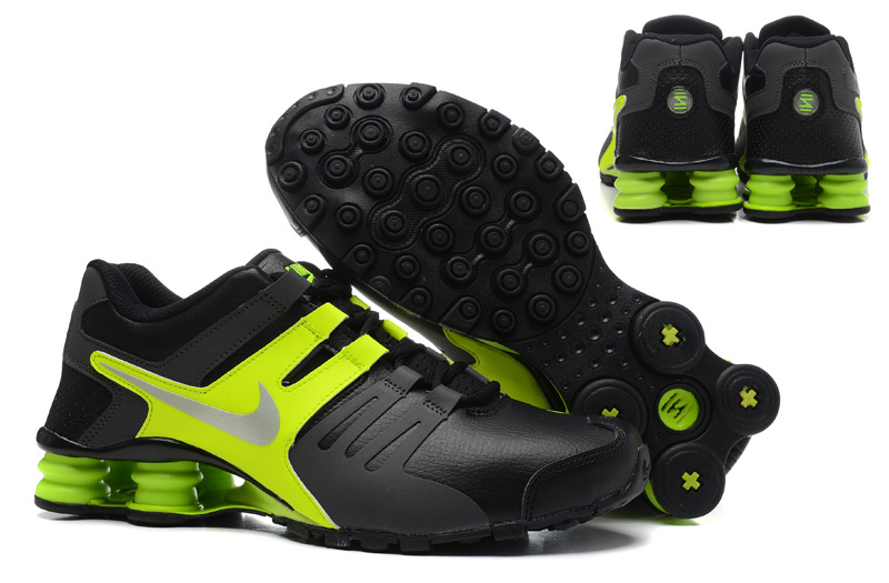the latest 62464 e9e88 Nike Shox Current Shoes Black Green Silver