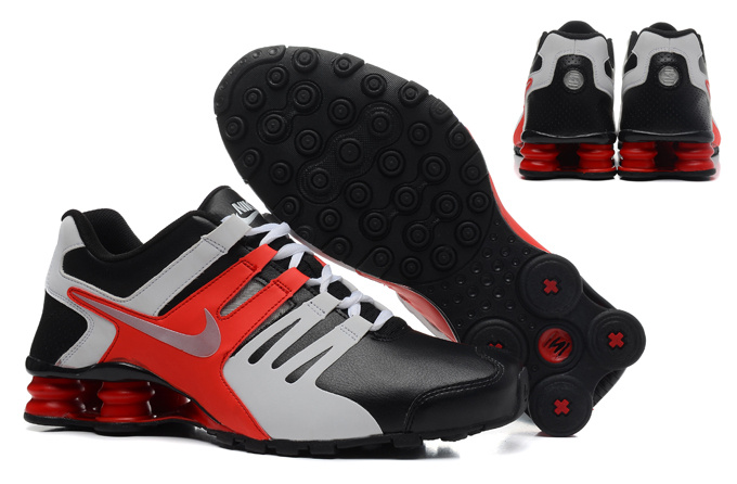 Nike Shox Current Shoes Black Grey Red Silver
