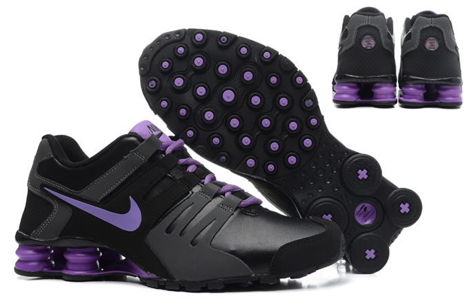 Women Shox Current Black Purple Shoes