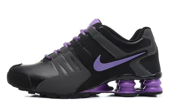 Women Shox Current Black Purple Shoes