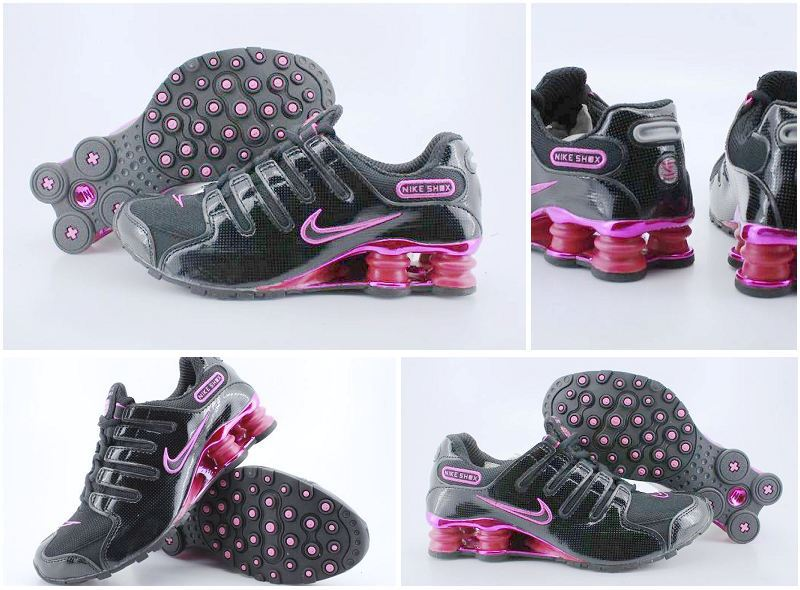 Women Nike Shox NZ Shoes Black Red Silver