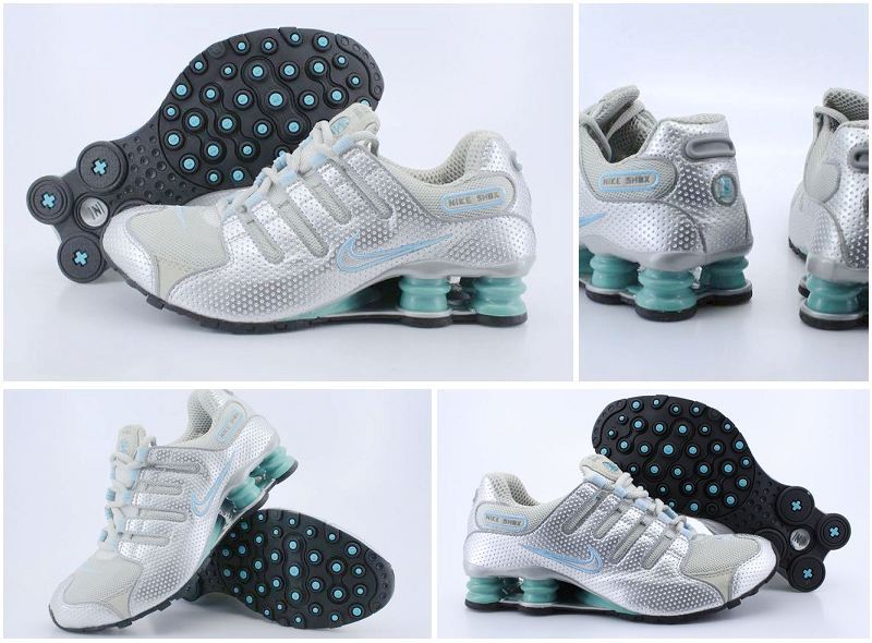 Women Nike Shox NZ Shoes Grey Silver Green