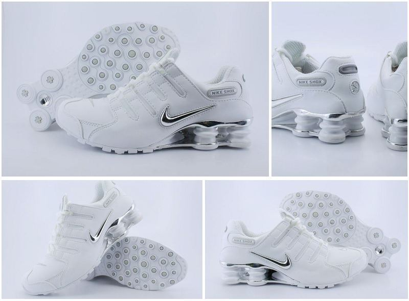 Women Nike Shox NZ Shoes White Black Logo