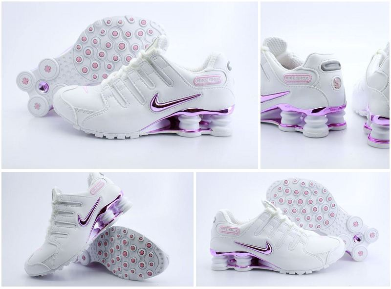 Women Nike Shox NZ Shoes White Pink Logo