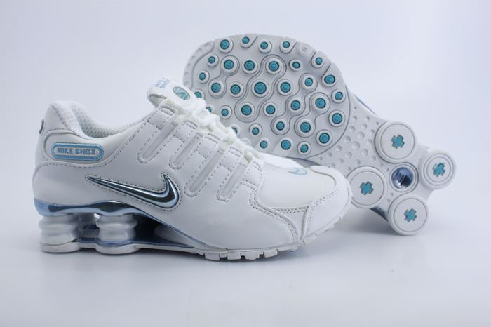 Women Nike Shox NZ Shoes White Green