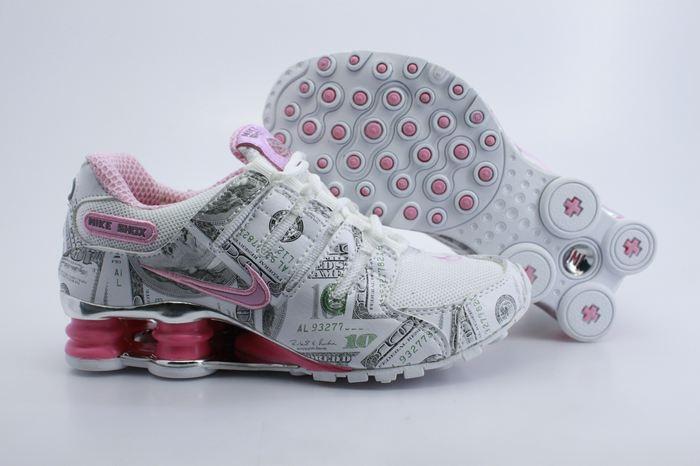 Women Nike Shox NZ Shoes White Grey Pink