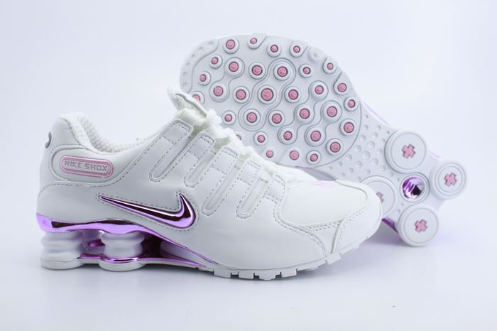 Women Nike Shox NZ Shoes White Pink