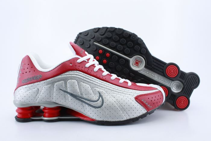 Nike Shox R4 Shoes Red White