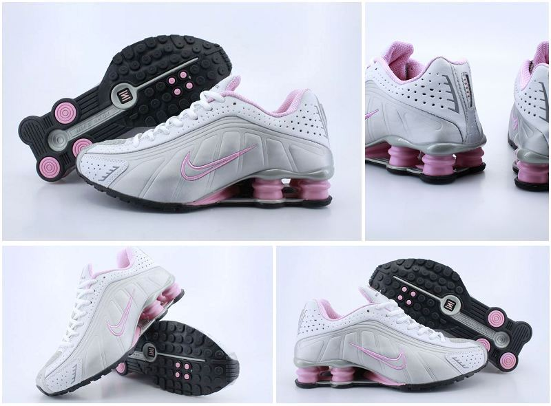 Women Nike Shox R4 Shoes White Grey